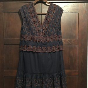 Sale 💕See By Chloé Blue Broderie Anglaise dress